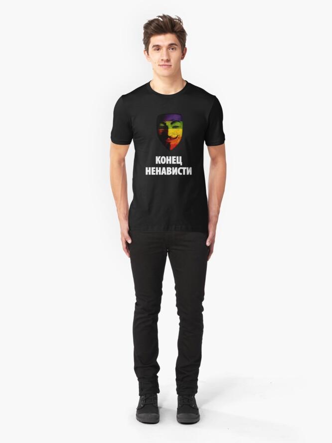 Alternate view of КОНЕЦ НЕНАВИСТИ ( END HATRED ) Slim Fit T-Shirt