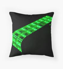 green bench Throw Pillow