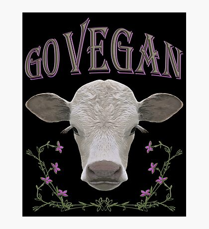GO VEGAN Photographic Print