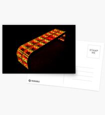 yellow-orange bench Postcards