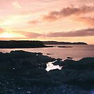 Sunset At Eyemouth by Sue Fallon Photography