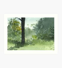 Sitting Under The Apple Tree Art Print