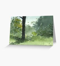 Sitting Under The Apple Tree Greeting Card