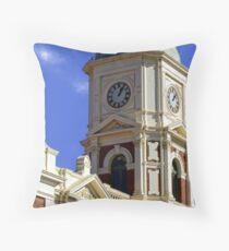 Boulder Clock Tower Throw Pillow
