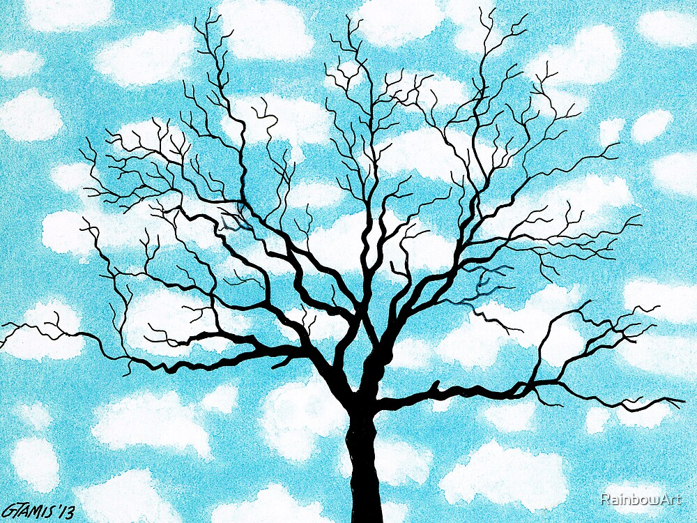TREE IN THE CLOUDS by RainbowArt