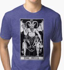 The Devil Tarot Card - Major Arcana - fortune telling - occult Tri-blend T-Shirt