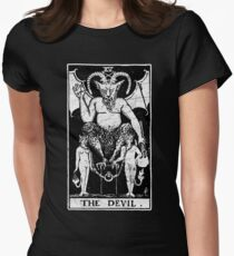 The Devil Tarot Card - Major Arcana - fortune telling - occult Women's Fitted T-Shirt