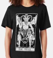 The Devil Tarot Card - Major Arcana - fortune telling - occult Slim Fit T-Shirt