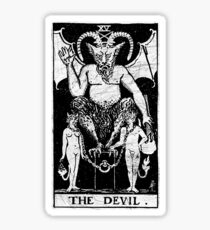 The Devil Tarot Card - Major Arcana - fortune telling - occult Sticker