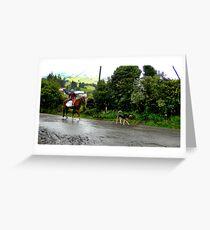 Neither Rain Nor Sleet - Painting Greeting Card