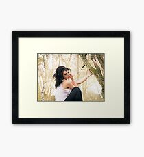 Zoe at the Reserve 01 Framed Print
