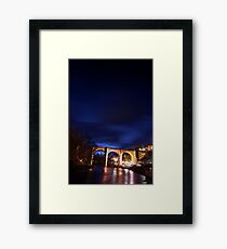Knaresborough Viaduct at Night Framed Print