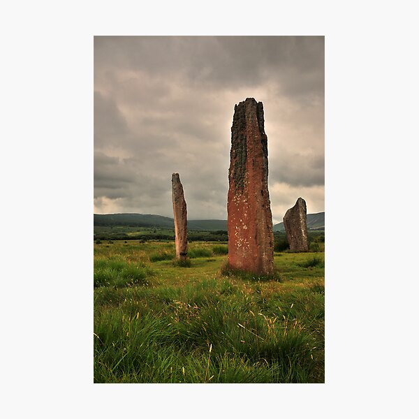 Machrie Moor standing stones Photographic Print
