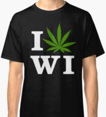I Love Wisconsin Marijuana Cannabis Weed T-Shirt  Classic T-Shirt