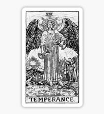 Temperance Tarot Card - Major Arcana - fortune telling - occult Sticker