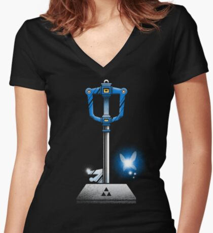 MASTER KEYBLADE Women's Fitted V-Neck T-Shirt