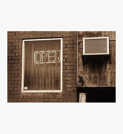 Open For Business Photographic Print