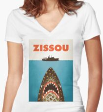 Zissou Women's Fitted V-Neck T-Shirt