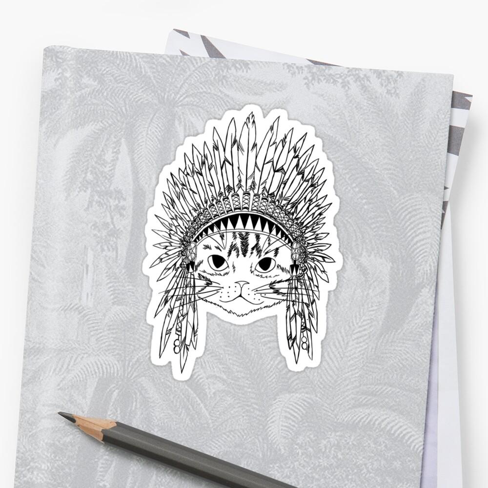 Chief Kitty - Black by Carol  Arevalo