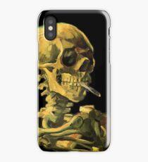 """Vincent Van Gogh - """"Skull of a Skeleton with Burning Cigarette"""" iPhone Case/Skin"""