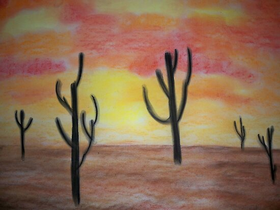 Desert Sunset by Coelina