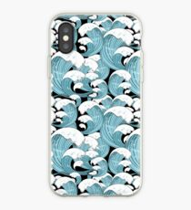 pattern of sea waves iPhone Case