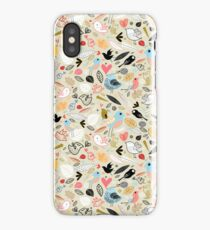 pattern of funny birds iPhone Case