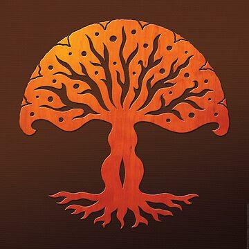 Tree of Life, Woodcut (viviána) by peterbarreda