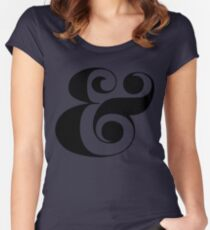 Ampersand (Eloquent Swash) Women's Fitted Scoop T-Shirt