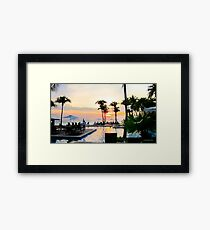 Sunset in Curacao Framed Print