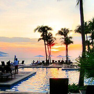 Sunset in Curacao by photorolandi