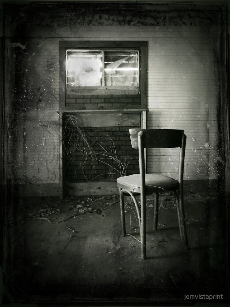 Remarkable Abandoned Chair Spooky Creepy Halloween Art Poster Onthecornerstone Fun Painted Chair Ideas Images Onthecornerstoneorg