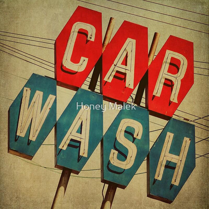 Quot Retro Car Wash Sign Quot By Honey Malek Redbubble