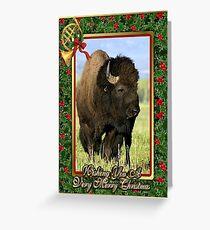 North American Bison Buffalo Blank Christmas Card Greeting Card