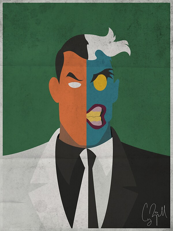 Quot Two Face Animated Series Poster Quot By Coderip12 Redbubble