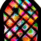 Spirograph Stained Glass Window with Stars by RachelEDesigns