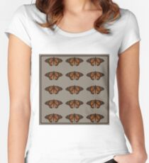 chocolate naive butterfly  Women's Fitted Scoop T-Shirt