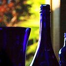 Blue Bottles by Ellen Cotton