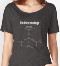 Excuse Me While I Science: I'm Into Bondage (Hydrogen) - White Text Version Women's Relaxed Fit T-Shirt