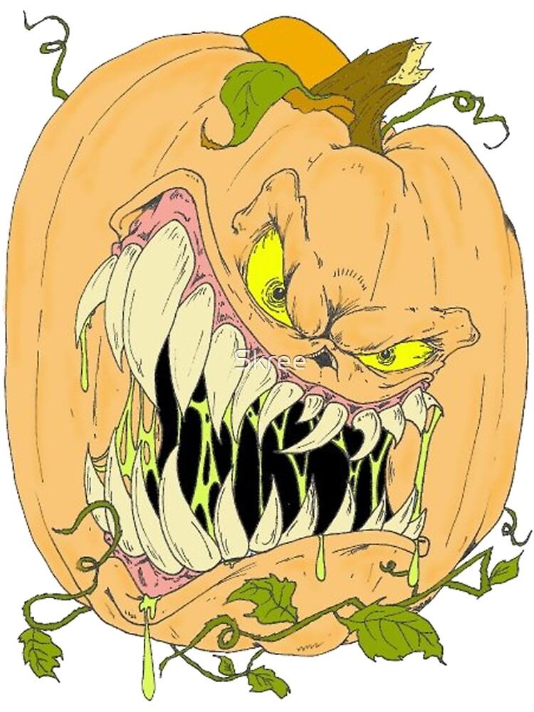 Horror Pumpkin by Skree