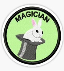 Stage Magician Geek Merit Badge Sticker