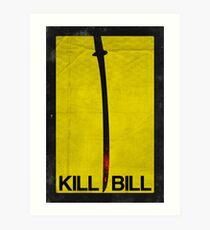 Kill Bill minimalist poster Art Print