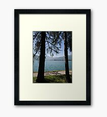 Zell Am See: Lake Through Trees Framed Print
