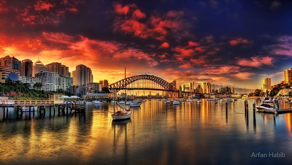 Lavender Bay Sunrise - Panorama  by Arfan Habib