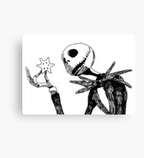 Jack - The nightmare before christmass Canvas Print