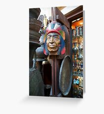 Indian Head outside store in Sook Greeting Card