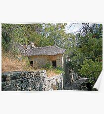 Epirus Stone Cottage Poster