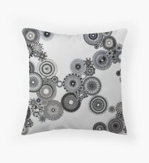 Abstract Black and white spiral fun! Throw Pillow