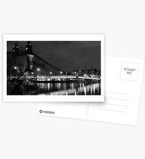 Hammersmith by night (monochrome) Postcards