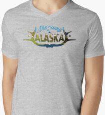 Skagway Alaska V-Neck  Men's V-Neck T-Shirt